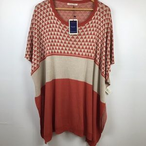 Do Everything In Love Poncho NWT